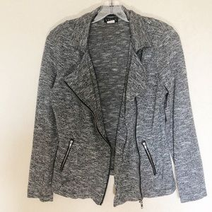 Venus Asymmetrical Zip Up Blazer Jacket Sz Small